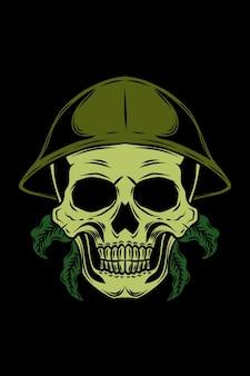 Forest ranger skull vector illustration