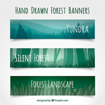 Лесные силуэты баннеры