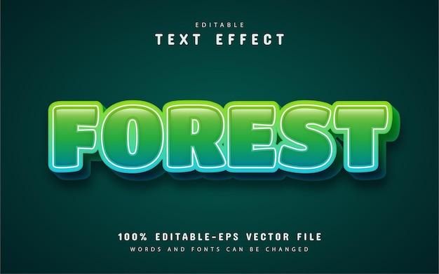 Лесной текст, редактируемый текстовый эффект 3d