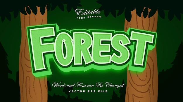 森のテキスト効果