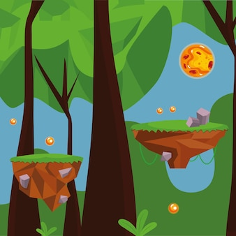 숲 비디오 게임 장면