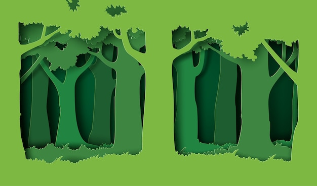 木と草の森。