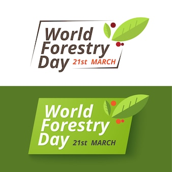 Forestry day logo design. 21st march