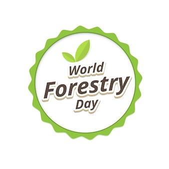 Forestry day logo design