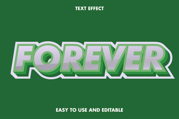 Forever text effect. easy to use and editable.