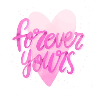 Forever yours wedding lettering