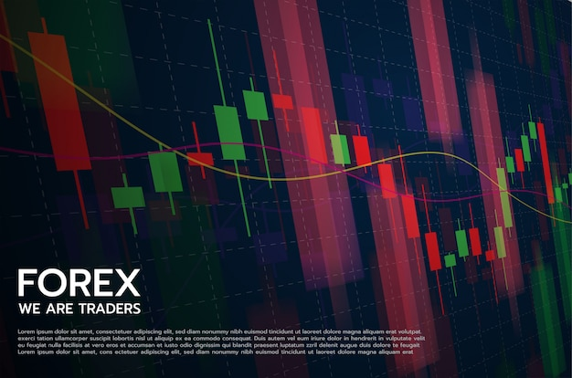 Forex  concept stock exchange and trader