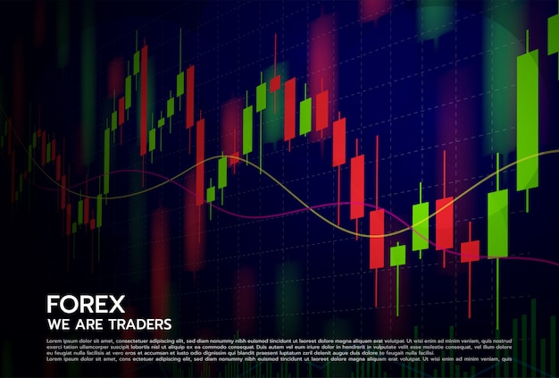 Forex  concept stock exchange and trader.