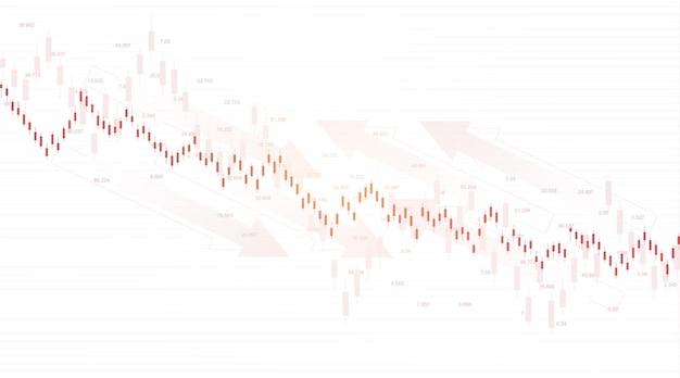 外国為替証券取引所の背景。外国為替取引グラフチャートの金融ウェブバナーテンプレート。白い背景、ベクトルイラストの外国為替取引インジケーター。
