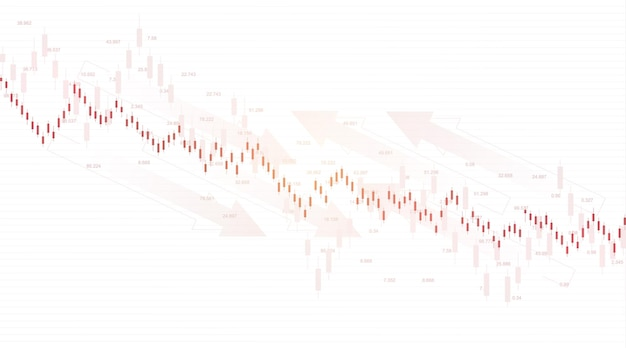 Forex stock market exchange background. financial web banner template for forex trading graph chart. forex trading indicators on white background, vector illustration