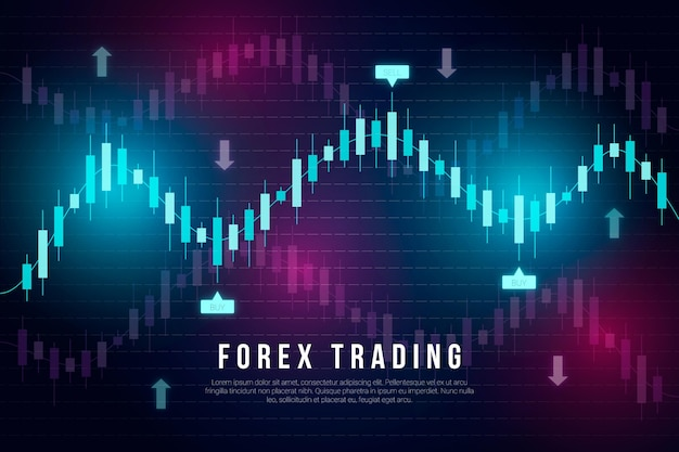 Forex trading background concept