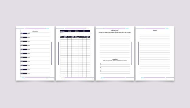 外国為替トレーディングブックとジャーナルテンプレートのデザイン