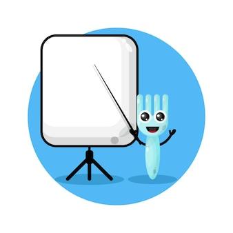 Fork becomes a teacher cute character logo