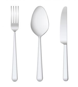 Fork spoon knife.