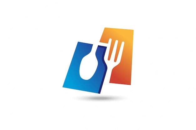 Fork and spoon logo.