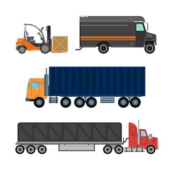 Forklift truck delivery van logistics industry