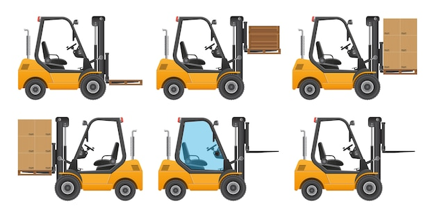 Forklift truck. illustration isolated on white