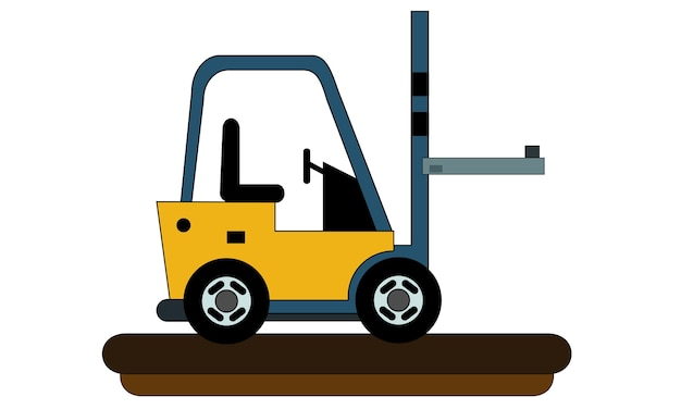 Forklift vehicle icon