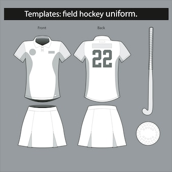 A form template for hockey on the grass
