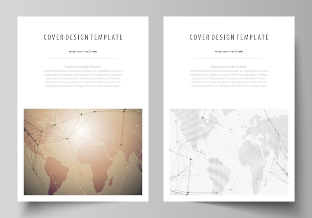 Format covers templates for brochure