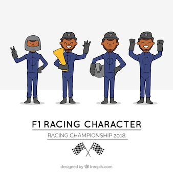 Formula 1 character collection