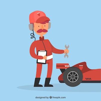 Formula 1 pit stop worker