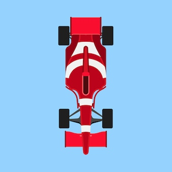 Formula 1 race car sport icon top view.