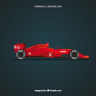 Formula 1 racing car with realistic design