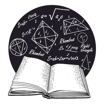 Formulas  and open book.
