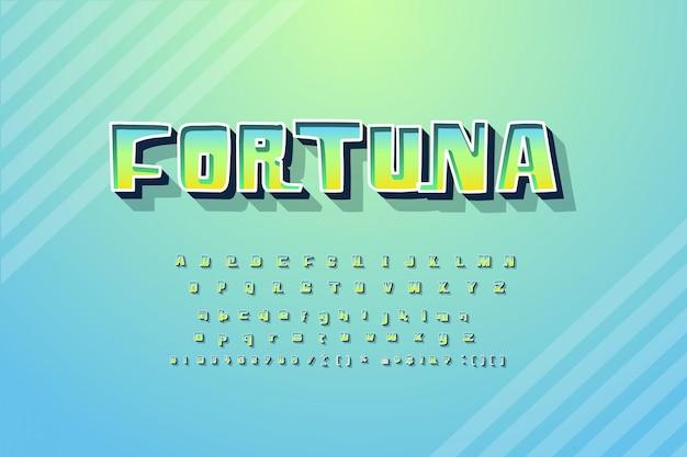 単語fortunaとトレンディなアルファベット
