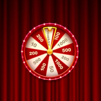 Fortune casino jackpot, modern light frame. vector illustration