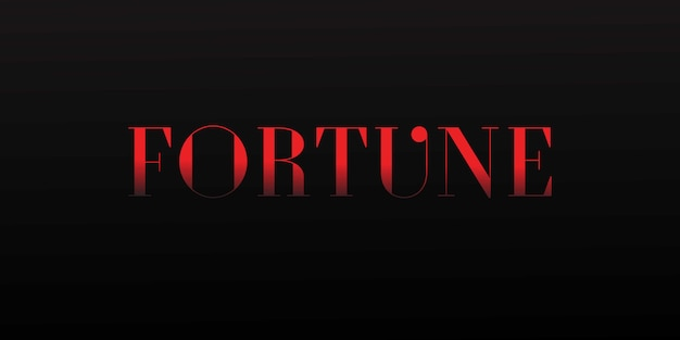 Fortune editable font effect