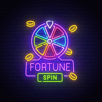 Fortune neon sign