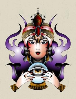 Fortune teller gypsy tattoo