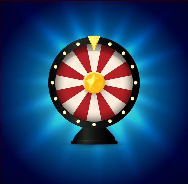 Fortune wheel illustration with flat design