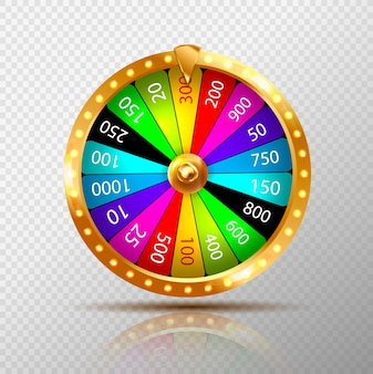Fortune wheel isolated on transparent background.