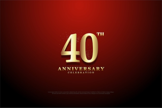 Сорок годовщина фон