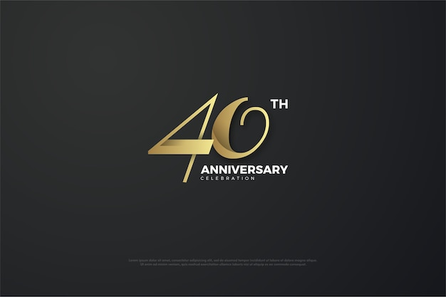 Forty anniversary celebration in classic gold color