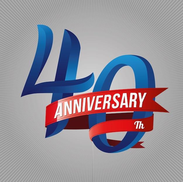 Forty years anniversary logo