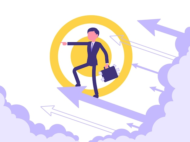 Forward moving illustration