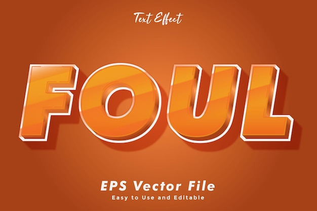 Foul text effect editable and easy to use typography effect