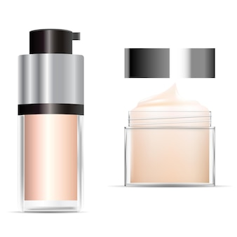 Foundation cream bottle for cosmetic container illustration