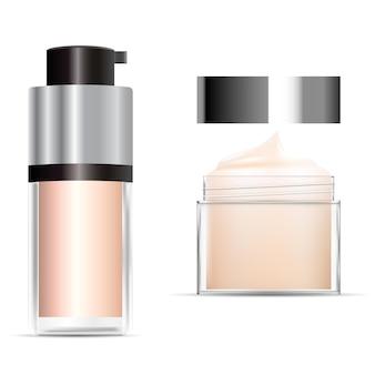 Бутылка тонального крема для иллюстрации косметического контейнера