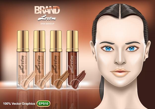 Foundation creams set ads