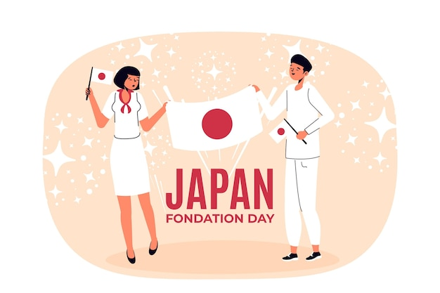 Foundation day (japan) flat design background
