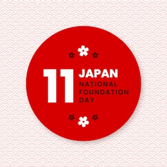 Foundation day japan flat design