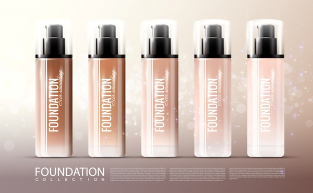 Foundation skin treatment realistic template