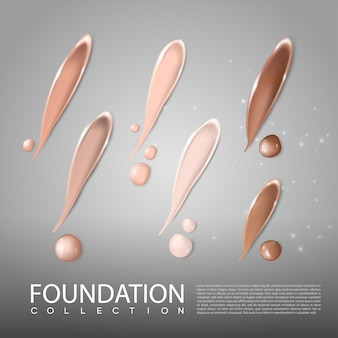 Foundation skincare cosmetic realistic template