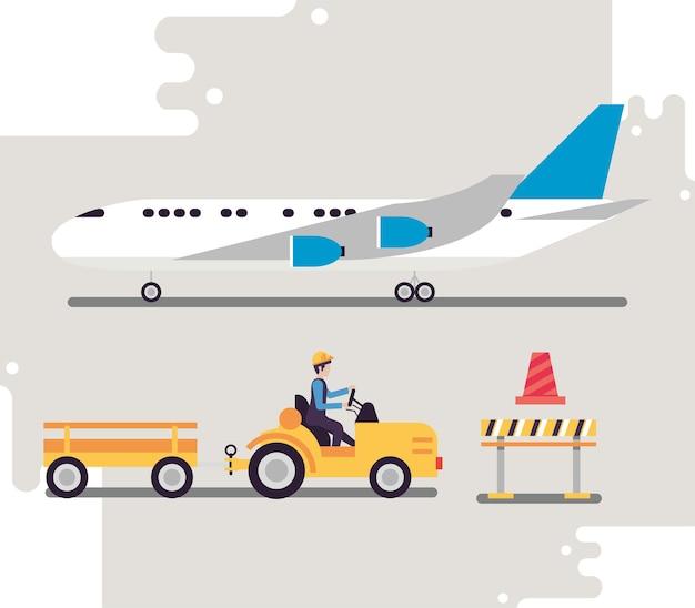 4つの空港業界のアイコン