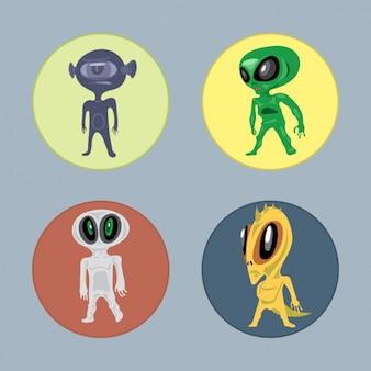 Four aliens